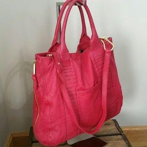 Kelsi Dagger large red leather tote bag.
